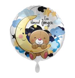 Folie Ballon Hoera een Jongen (leeg)