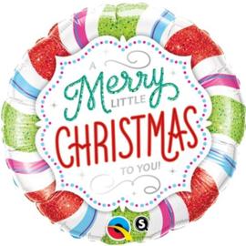 Folie Ballon Merry Little Christmas To You (leeg)