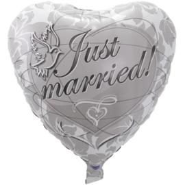 Folie Ballon Just Married (leeg)