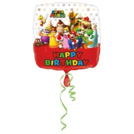 Folie ballon Super Mario Happy - Bday (leeg)