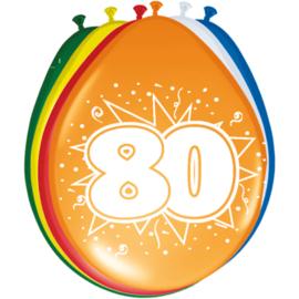 Latex Ballonnen 80 Jaar