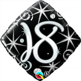Folie ballon Square Elegant Sparkles & Swirls - 18 (leeg)