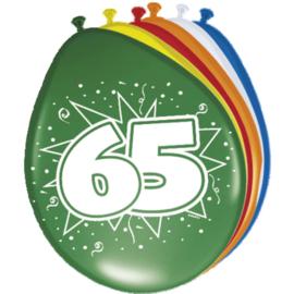 Latex Ballonnen 65 jaar