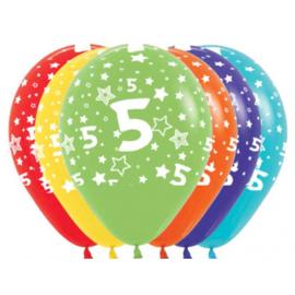 Latex Ballonnen Cijfer 5