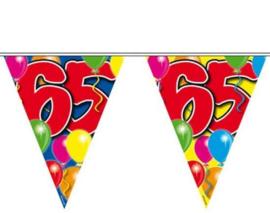 65 jaar ballon Vlaggenlijn