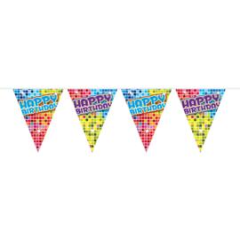 Happy B-day blocks Vlaggenlijn