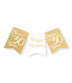 Vlaggenlijn 30 jaar Goud / Wit