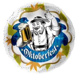Folie ballon Oktoberfest met Bierpull (leeg)