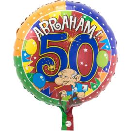 Folie Ballon Abraham 50 jaar (leeg)