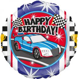 Folie Ballon Happy Birthday Car (leeg)