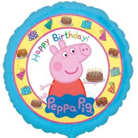 Folie Ballon Peppa Pig Happy Birthday (leeg)