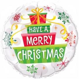 Folie Ballon Have A Merry Christmas (leeg)
