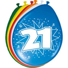 Latex Ballonnen 21 Jaar