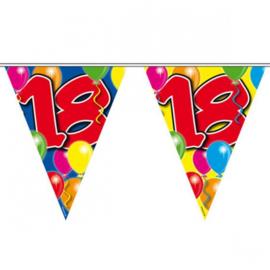 18 jaar ballon Vlaggenlijn