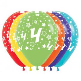 Latex Ballonnen Cijfer 4