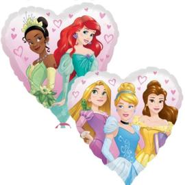 Folie ballon Disney Prinses  Hart (leeg)