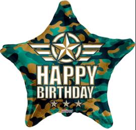 Folie Ballon Happy Birthday Star (leeg)