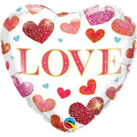 Folie ballon Love Jewels Heart (leeg)
