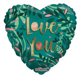 Folie Ballon Love You Eco (leeg)