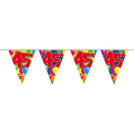 45 jaar Ballon vlaggenlijn