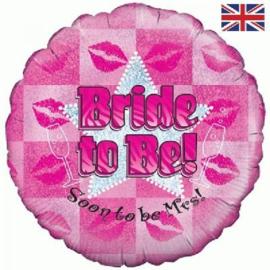 Folie Ballon Bride To Be (leeg)