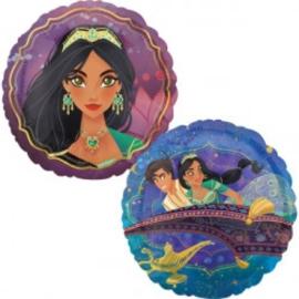 Folie ballon Aladdin & Jasmine (leeg)