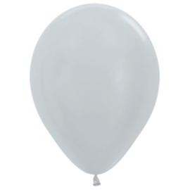 Latex Ballonnen Pearl Zilver