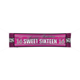 Sweet Sixteen Banner 180 x 40 cm