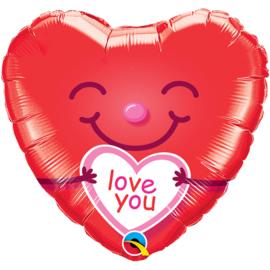 Folie Ballon Love you Smile (leeg)