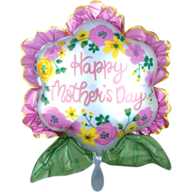 Folie Ballon Happy Mother's Day Bloem (leeg)