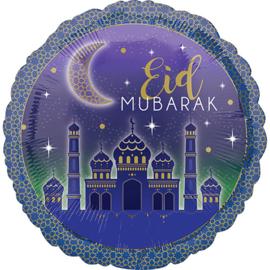 Folie ballon Eid Mubarak - Suikerfeesten (Leeg)