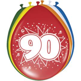 Latex Ballonnen 90 jaar