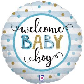 Folie Ballon Welcome Baby Boy (leeg)