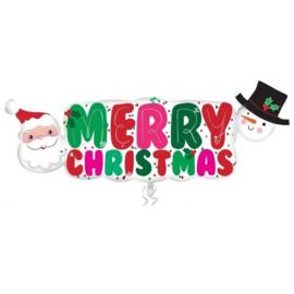 Folie Ballon Merry Christmas Shape (leeg)