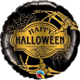Folie Ballon Halloween Golden Skelet (leeg)