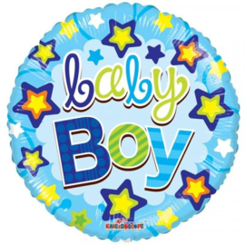 Folie ballon Baby Boy Stars (leeg)