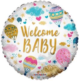 Folie Ballon Welcome Baby (leeg)