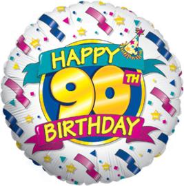 Folie Ballon Happy 90  th Birthday (leeg)