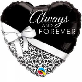 Folie ballon Always and Forever (leeg)