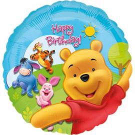 Folie ballon Winnie de Poeh gefeliciteerd (leeg)