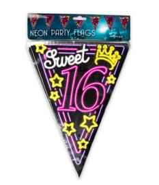 Vlaggenlijn Neon Sweet Sixteen