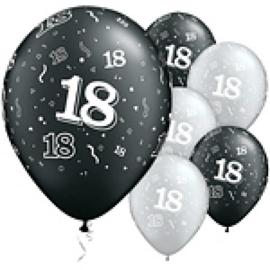 Latex ballonnen Cijfer 18