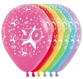 Latex Ballonnen Cijfer 30
