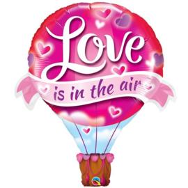 Folie Ballon Love Is in the Air (leeg)