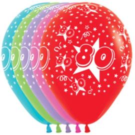 Latex Ballonnen cijfer 80