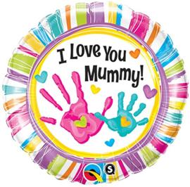 Folie Ballon I Love You Mummy (leeg)