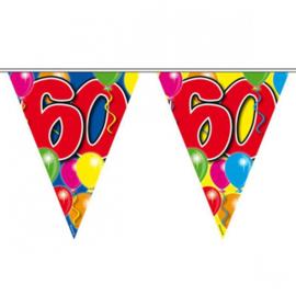 60 jaar ballon Vlaggenlijn