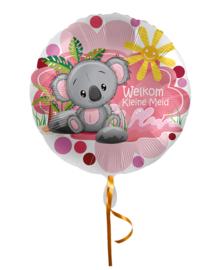 Folie Ballon Welkom Kleine meid (leeg)