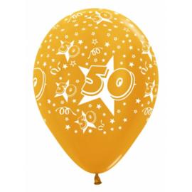 Latex Ballonnen Cijfer 50 Goud