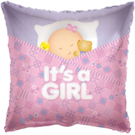 Folie ballon It's a girl Slapen (leeg)